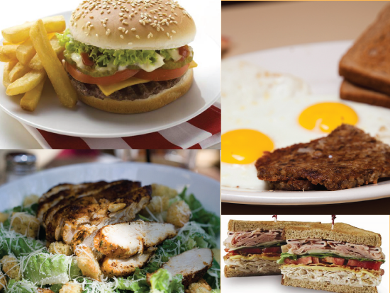 breakfast burgers deli salads